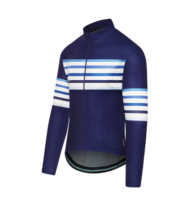Maillot claudette camaîeu bleu café du cycliste