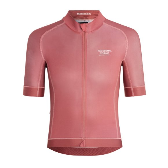 aerodynamic cycling jersey in rose color. pas normal studios